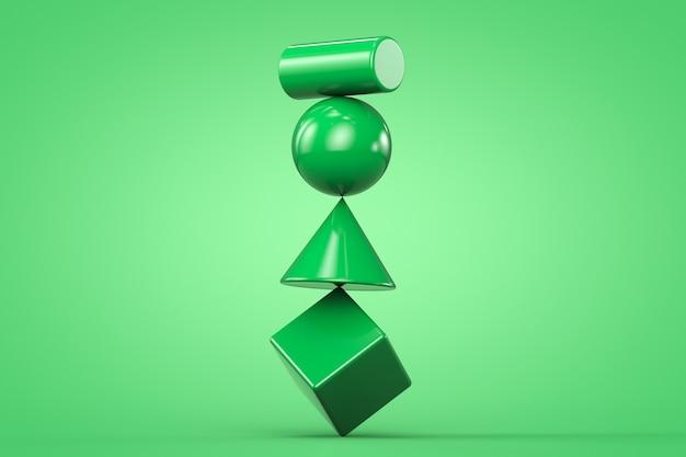 Struttura di bilanciamento instabile. copia spazio.