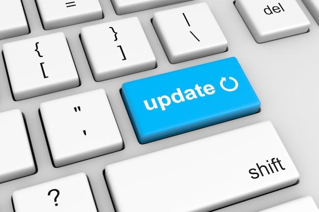 Simbolo di aggiornamento sul pulsante tastiera computer