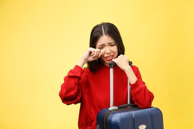 Donna turistica sconvolta