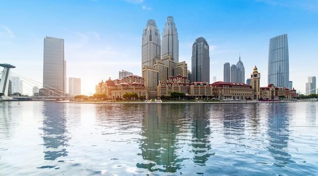 Paesaggio architettonico urbano a tianjin, in cina