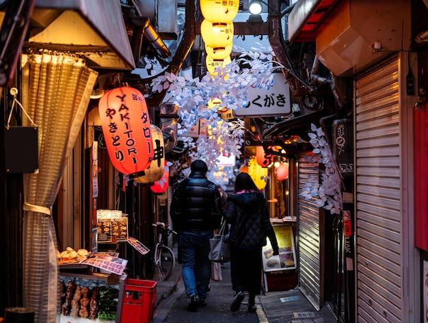 Lampade giapponesi di paesaggio urbano