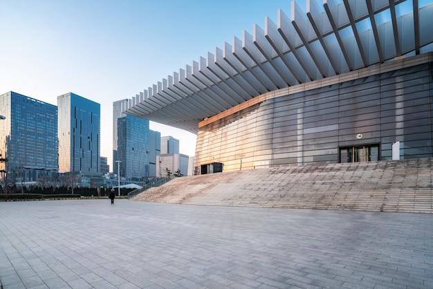 Fondo urbano del paesaggio di architettura moderna