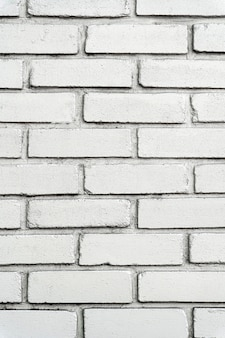 Muro di mattoni bianco urbano con grandi piastrelle