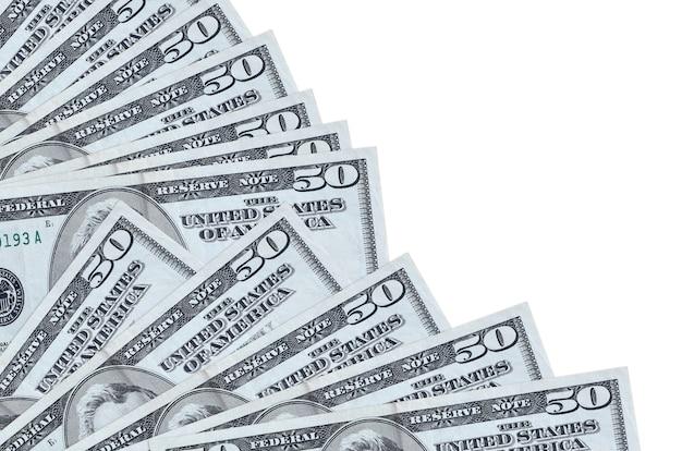 Le fatture dei dollari usa si trovano isolate su fondo bianco