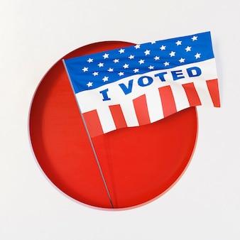 Concetto di elezioni degli stati uniti con lo spazio della copia