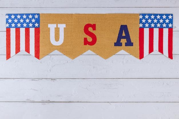 Parola di lettere usa sulla celebrazione degli stati uniti. festa federale