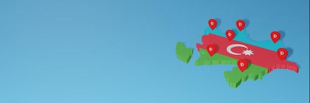 Utilizzo di pinterest in azerbaigian per le esigenze della tv sui social media e della copertina del sito web