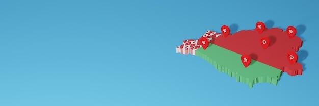 Utilizzo di pinterest in bielorussia per le esigenze della tv sui social media e della copertina del sito web