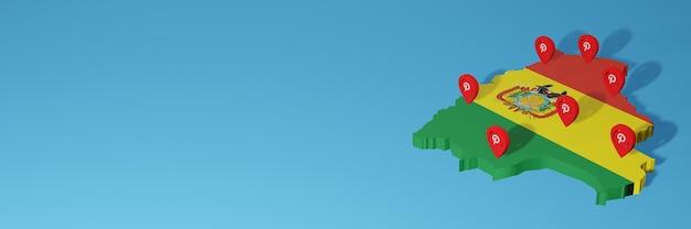 Utilizzo di pinterest in bolivia per le esigenze della tv sui social media e della copertina del sito web