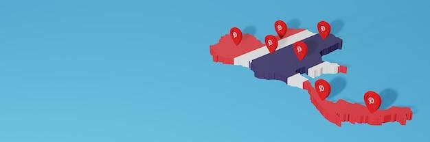 Utilizzo di pinterest in thailandia per le esigenze della tv sui social media e della copertina del sito web