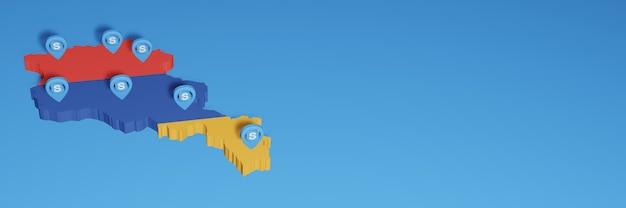 L'uso di skype in armenia per le esigenze dei social media tv e lo sfondo del sito web coprono uno spazio vuoto