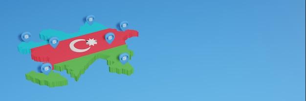 L'uso di skype in azerbaigian per le esigenze dei social media tv e lo sfondo del sito web coprono uno spazio vuoto