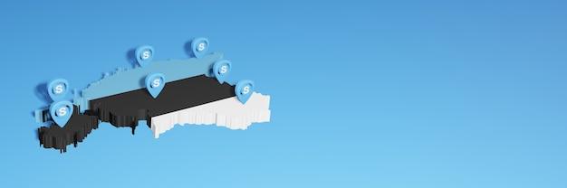 L'uso di skype in estonia per le esigenze dei social media tv e lo sfondo del sito web coprono uno spazio vuoto
