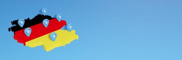 L'uso di skype in germania per le esigenze dei social media tv e lo sfondo del sito web coprono uno spazio vuoto