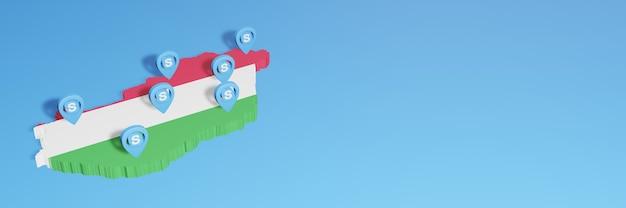 L'uso di skype in ungheria per le esigenze dei social media tv e lo sfondo del sito web coprono uno spazio vuoto