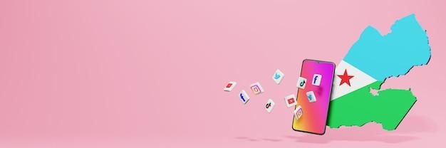 Utilizzo di wa fb ig youtube e tiktok a gibuti per le esigenze di sfondo di tv e siti web
