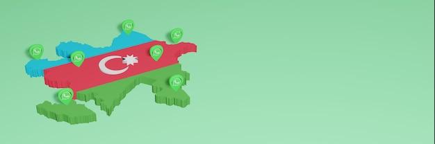 Utilizzo di whatsapp in azerbaigian per le esigenze della tv sui social media e della copertina del sito web