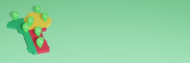 L'uso di whatsapp in benin per le esigenze dei social media tv e lo sfondo del sito web coprono uno spazio vuoto