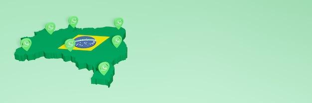 L'uso di whatsapp in brasile per le esigenze dei social media tv e lo sfondo del sito web coprono uno spazio vuoto
