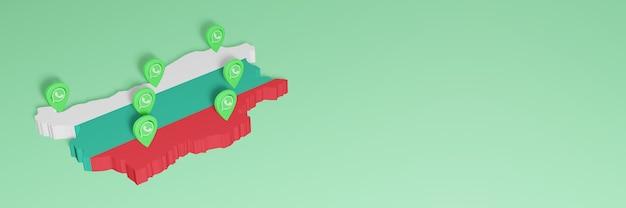 Utilizzo di whatsapp in bulgaria per le esigenze della tv sui social media e della copertina del sito web