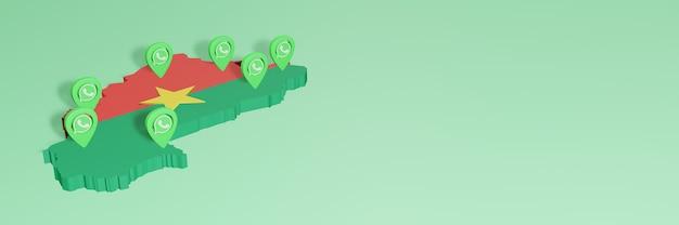 Utilizzo di whatsapp in burkina faso per le esigenze di social media tv e sfondo del sito web