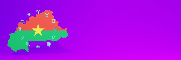 Uso di zodiac in burkina faso per le esigenze della tv sui social media e della copertina del sito web