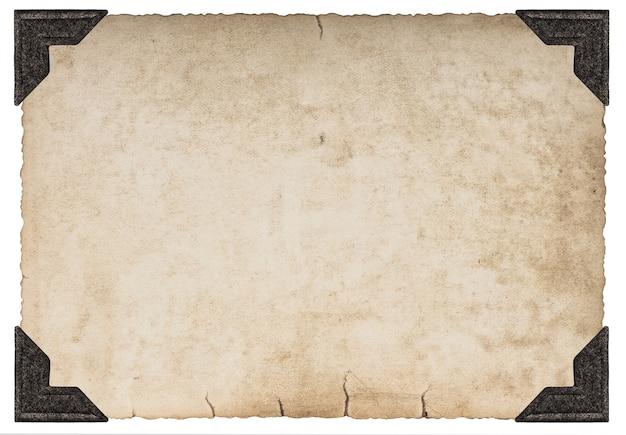 Texture di carta carta usata con angolo foto isolato