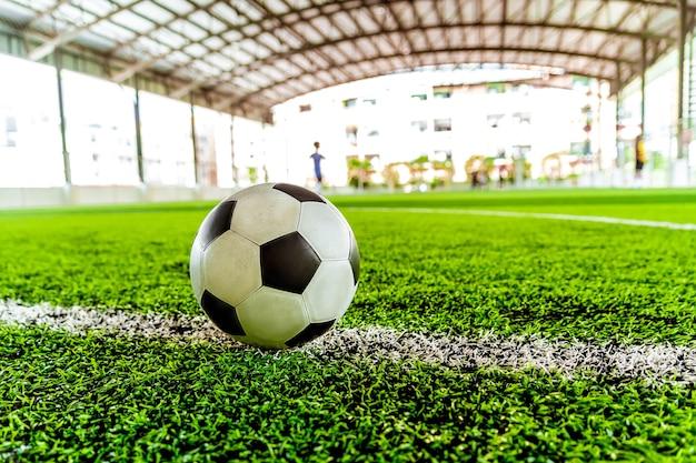 Usato il classico pallone da calcio in bianco e nero