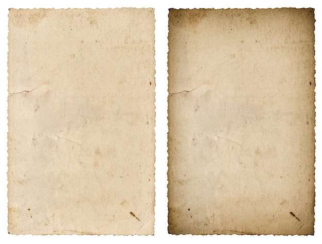 Foglio di carta usato. cornice per foto d'epoca isolata