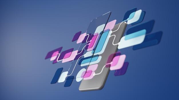 Progettazione del prototipo di sviluppo dell'applicazione del diagramma di flusso dell'interfaccia utente ux. concetto di esperienza utente.