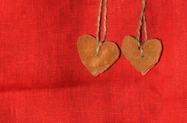 Biscotti di san valentino con forma di cuore