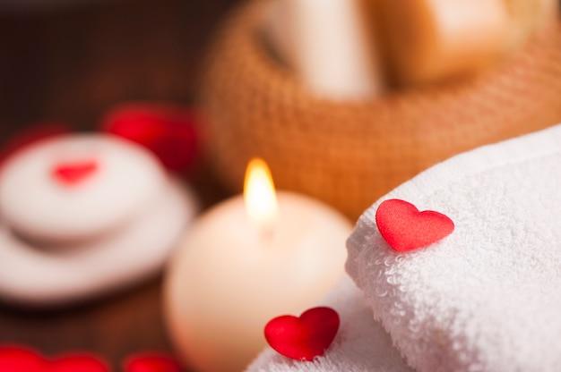 San valentino. decorazione del benessere