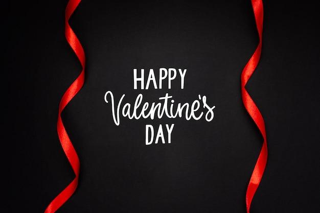 Composizione di san valentino con testo