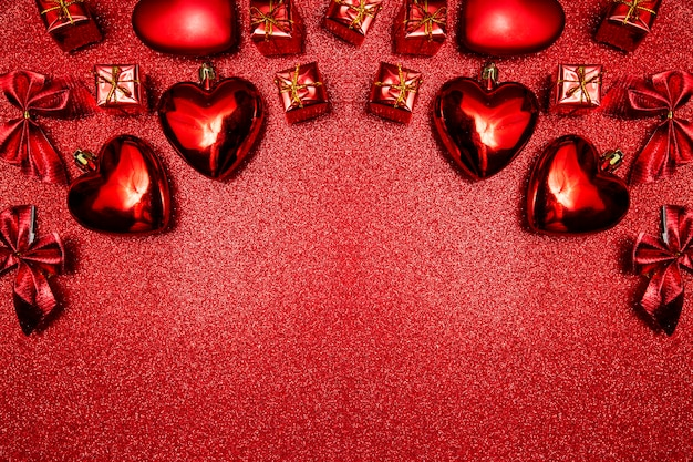 Sfondo di san valentino, vista dall'alto