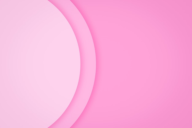 San valentino sfondo con lo strato di carta cerchio rosa sfondo astratto.