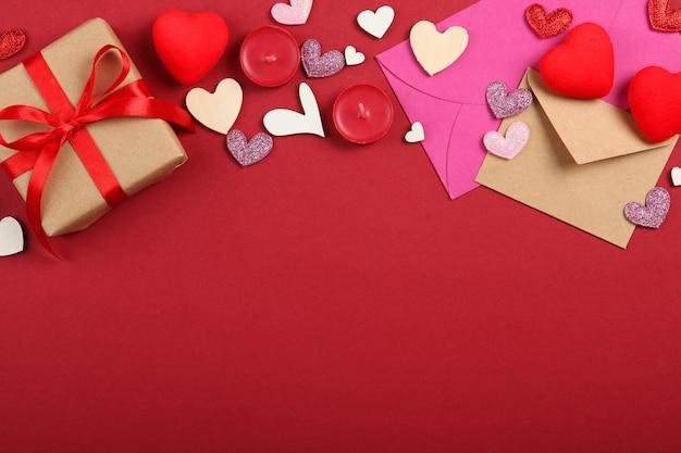 Sfondo di san valentino con posto per inserire testo
