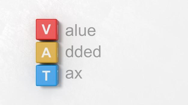 Imposta sul valore aggiunto, illustrazione del concetto di iva