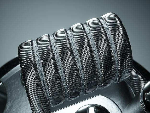 Atomizzatore vaping con bobina clapton. sfondo nero