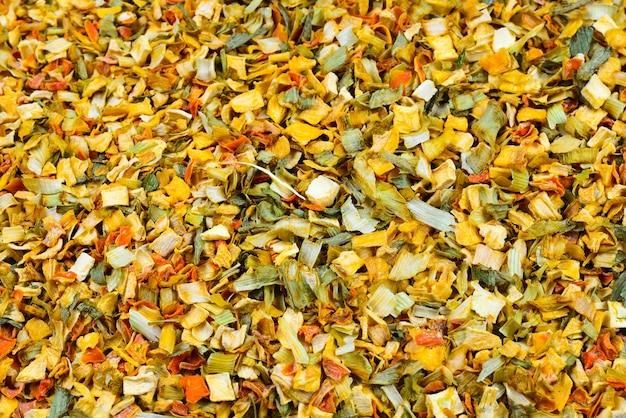 Varietà di spezie ed erbe aromatiche sfondo