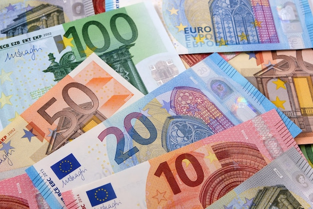 Vari sfondo diversi euro