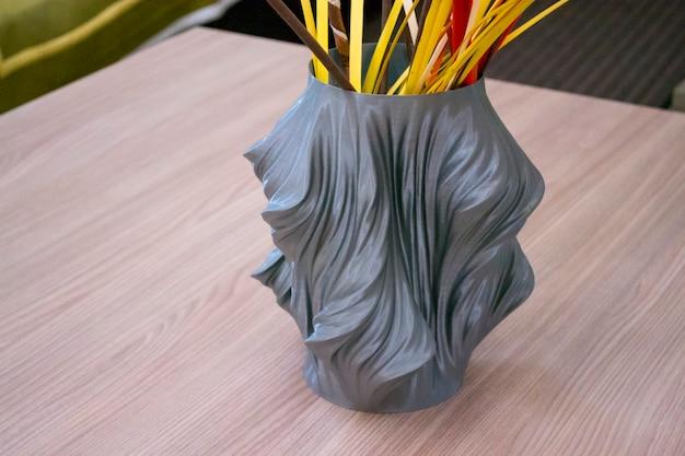 Il vaso stampato sulla stampante d si trova all'interno