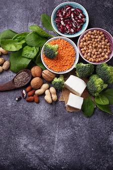 Fonti di proteine vegane