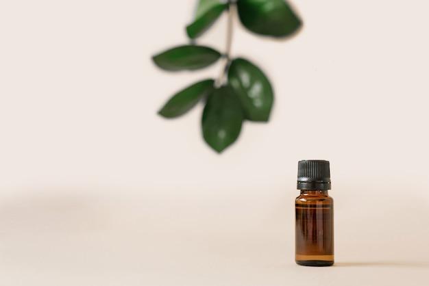 Cosmetici vegetali per la cura del corpo nei saloni di bellezza.