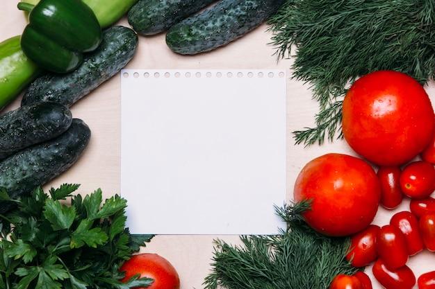 Sfondo di disintossicazione delle verdure