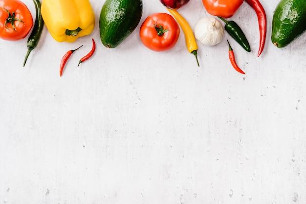 Superficie della cornice di verdure