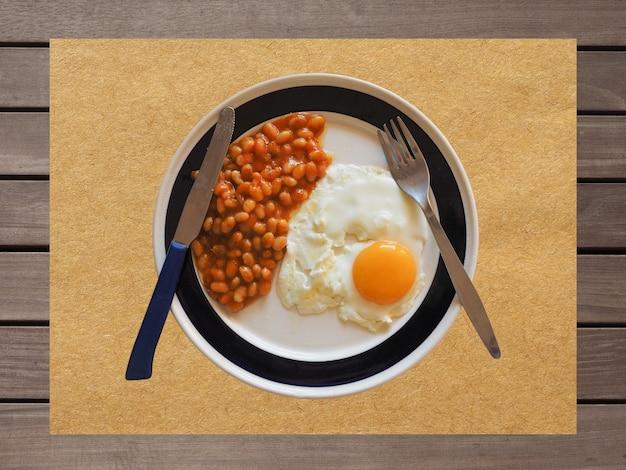 Colazione inglese vegetariana