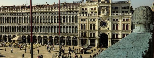Immagine del banner del dettaglio della città di venezia con lo spazio della copia