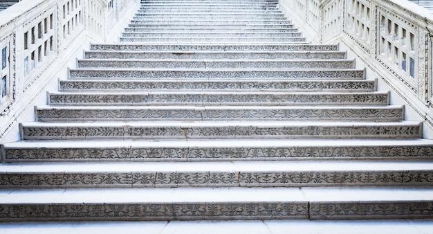 Venezia, italia. particolare della scalinata di palazzo ducale