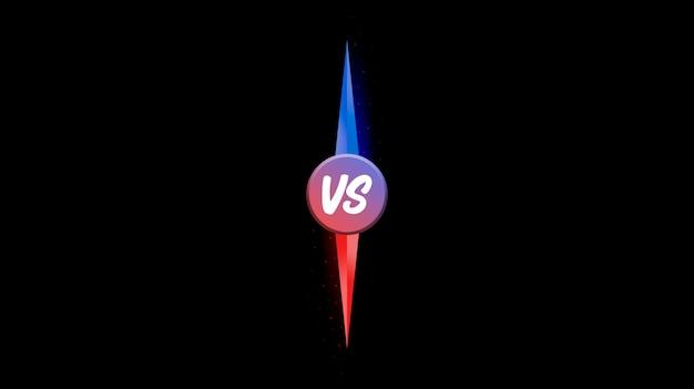 Contro vs combattere lo sfondo dello schermo di battaglia 3d