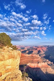 Vista verticale del grand canyon al mattino